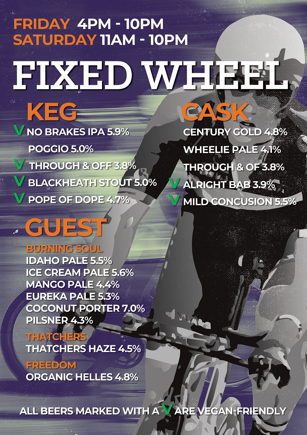 Fixed Wheel Beer List