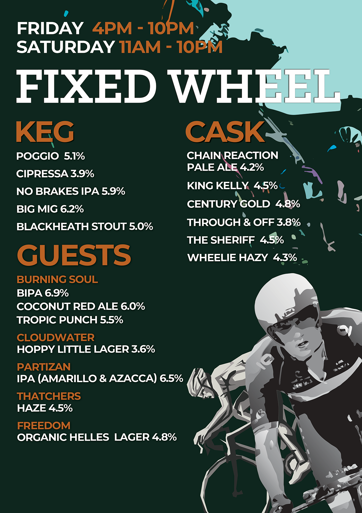Fixed Wheel Brewery Beer List