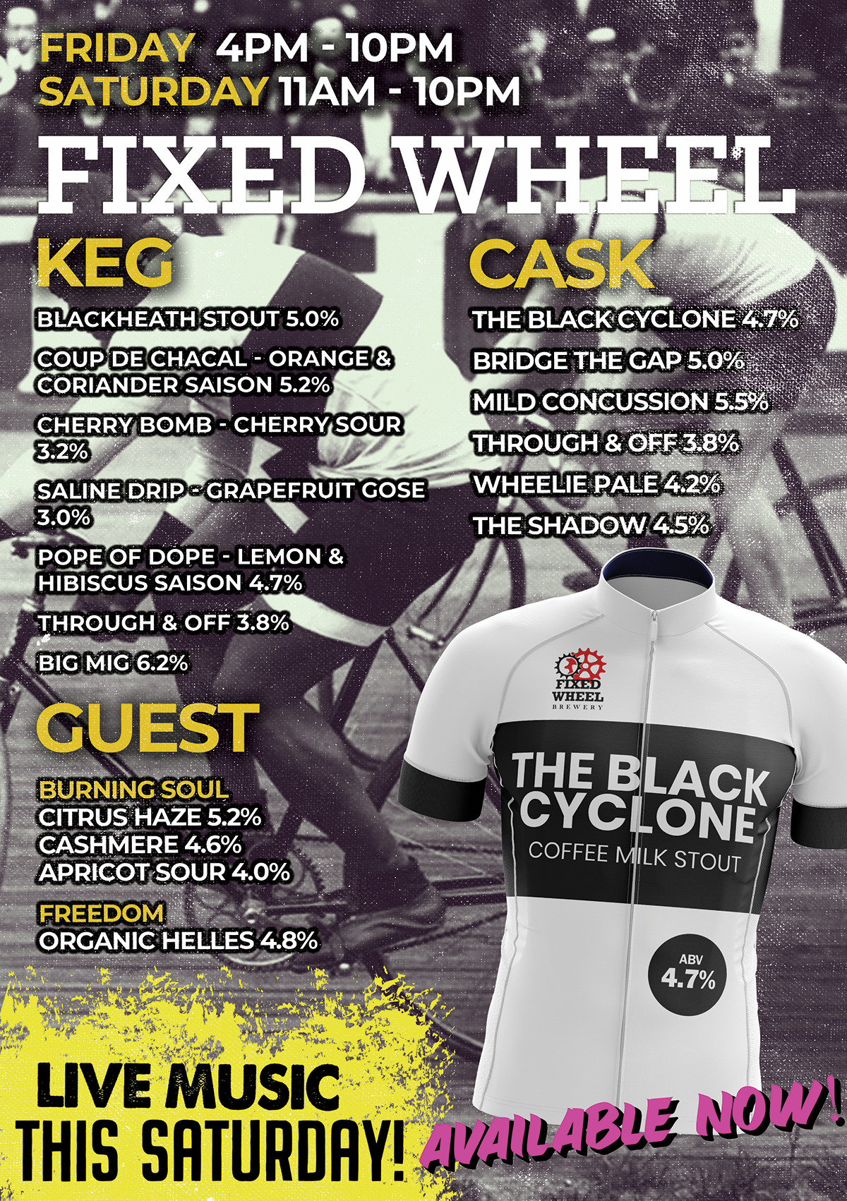 Fixed Wheel Brewery Black Cyclone