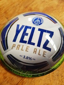 Fixed Wheel Brewery's special edition Yeltz Pale Ale for Halesowen Town FC
